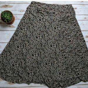 Worthington Skirt 2X Animal Print Stretch Wrap